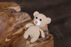 Háčkované zvířátko - medvídek béžový