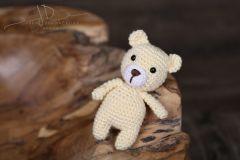 Háčkované zvířátko - medvídek smetanový