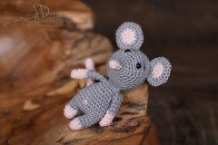 Háčkované zvířátko - myška šedá