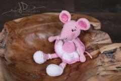 Háčkované zvířátko - myška růžová menší