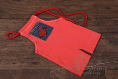 Kalhotky newborn - oranžové se zdobením