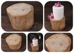 Dubový špalek dekorační 25 x 15cm - stoleček/stolička/podnos