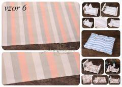 Matrace + polštářek do newborn postýlek - vzor 6
