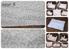 Matrace + polštářek do newborn postýlek - vzor 9