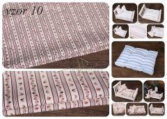 Matrace + polštářek do newborn postýlek - vzor 10
