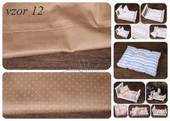 Matrace + polštářek do newborn postýlek - vzor 12