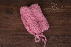 Čepička pletená růžová