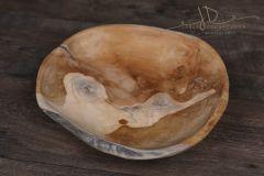 Dřevěný teak talíř