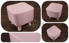 Taburet růžový - bobík  - látkový