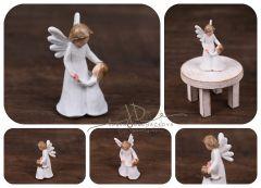 Andílek s dítětem - soška - dekorace 2