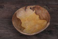 Dřevěný teak talíř střední 25cm