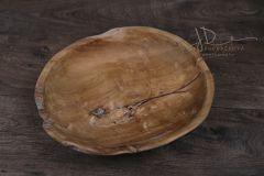 Dřevěný teakový talíř velký 35cm