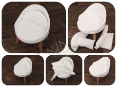 Křesílko - sedátko - bílé na nožičkách