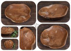 Dřevěný teakový talíř  35cm I