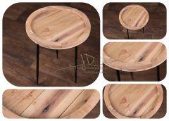 Stolek dřevěný kulatý