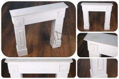 Krbová římsa - dekorace - bílá patina - REZERVACE