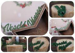 Nápis Veselé Vánoce zelený