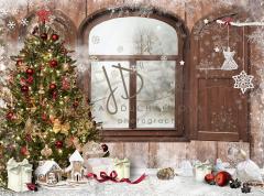 Vánoční fotopozadí - DESIGN 741 - 200x160