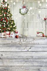 Vánoční pozadí spojené 320x200cm - s vadou