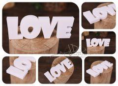 Nápis LOVE velký - bílý