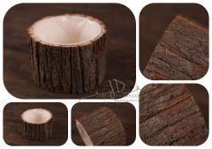 Obal - květináč ze dřeva - kůra