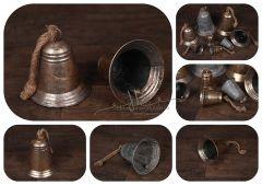 Zvonek - zlatá patina - střední