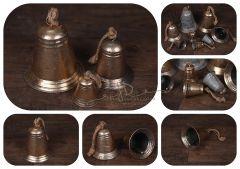 Zvonek - zlatá patina - velký