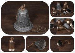 Zvonek - šedá patina - velký