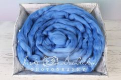 MERINO vlna - česanec - modrá