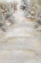 Fotopozadí - stěna+podlaha - Adventní krajinka 2