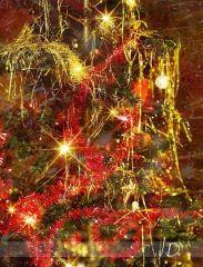 Fotopozadí - VÁNOCE - Svítící strom