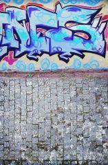 Fotopozadí - stěna+podlaha - GRAFITTI 2