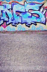 Fotopozadí - stěna+podlaha - GRAFITTI