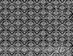 Fotopozadí - DAMAŠEK - černý s bílým vzorem
