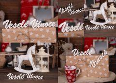 Nápis Veselé Vánoce bílý - II.jakost