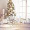 Vinylové fotopozadí - vánoční okna, dveře, pokoje a krby - spojené